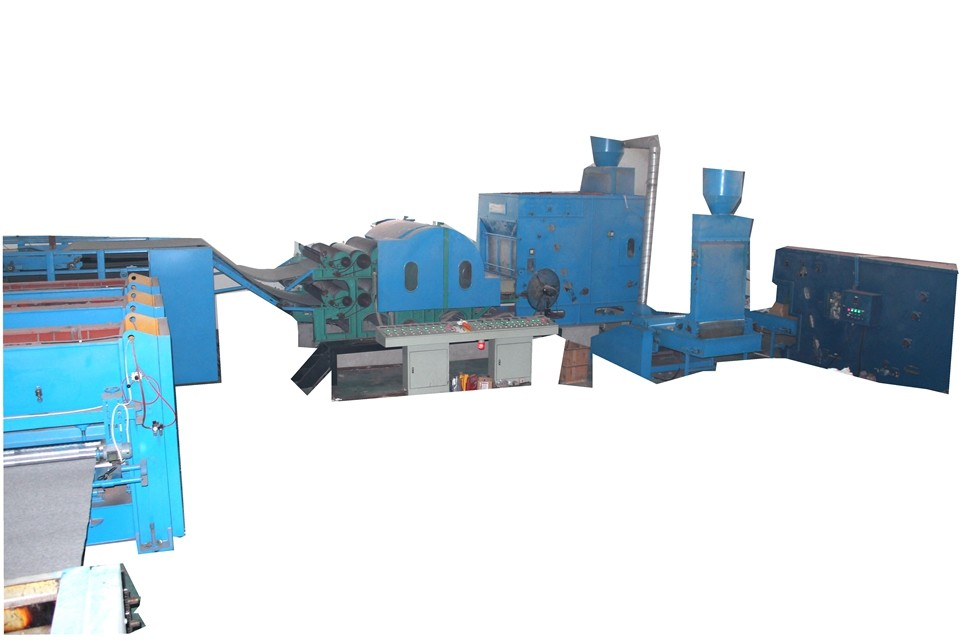 High Capacity Soft Polyester Wadding Production Line / Felt Making Machine For Nonwoven