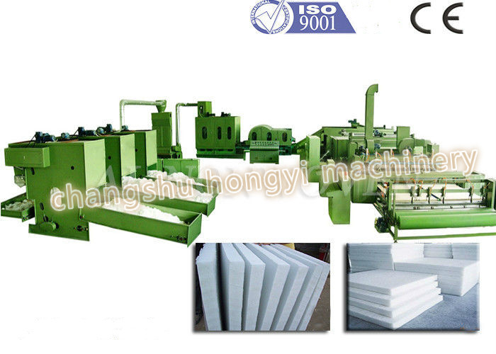 Heat Resistant Wadding Production Line / Mattress Making Machine With Thickness 3-200mm